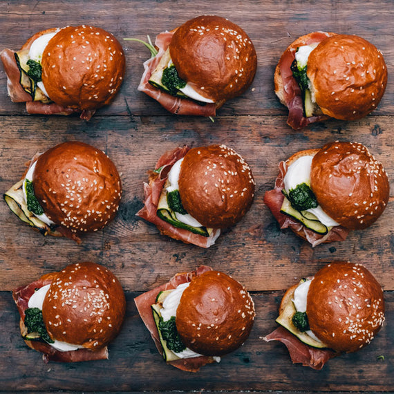 The Grounds Catering Prosciutto & Mozzarella Sliders