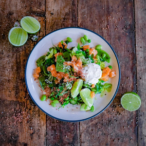Spiced Raw Citrus Salmon Salad