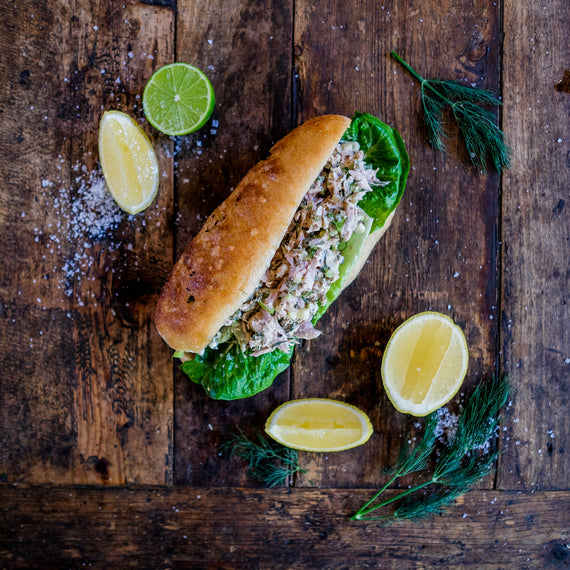 Tuna, Caper and Celery Sandwich