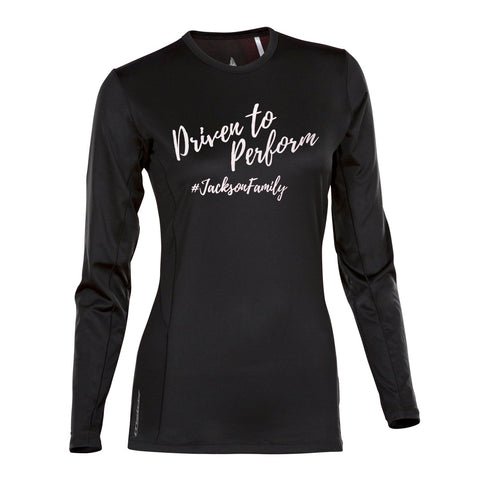 Womens Driven to Perform Velocity Long Sleeve (Black)