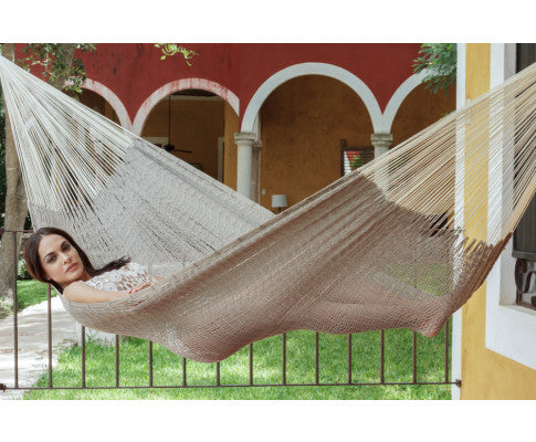 King Size Outdoor Cotton Hammock in Dream Sands
