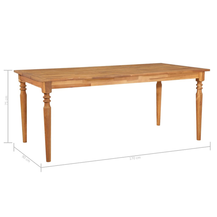 Outdoor Dining Table 170x90x75 cm Solid Acacia Wood