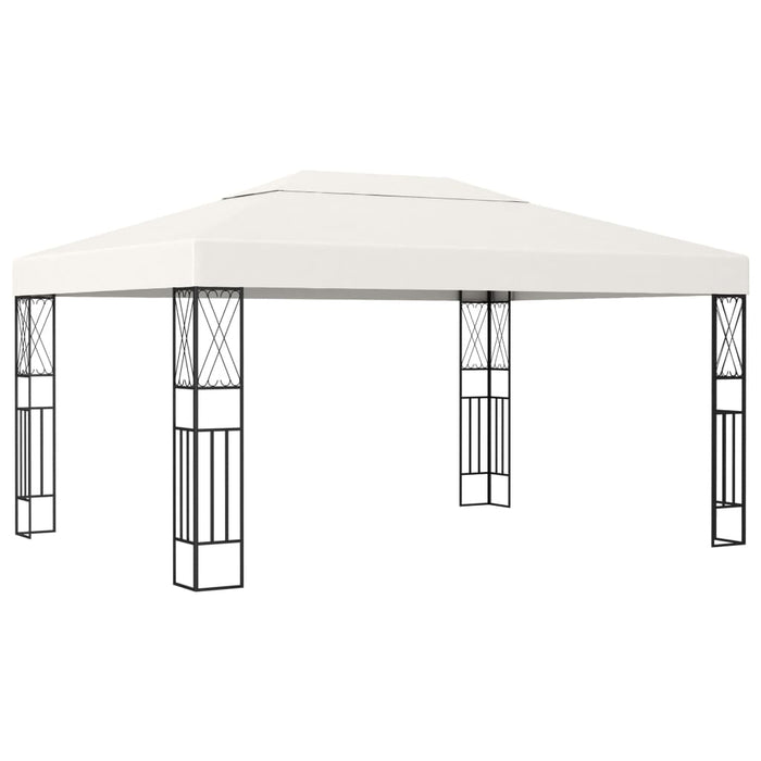 Gazebo 3x4 m Cream Fabric