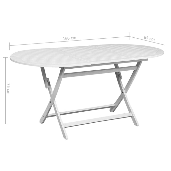 Acacia wood garden table dimensions