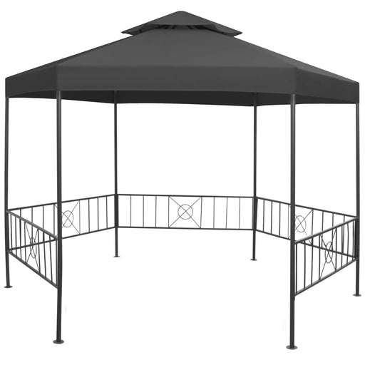 Anthracite outdoor gazebo