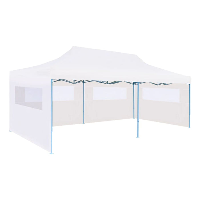 Folding Popup Partytent with Sidewalls 3x6 m Steel Whit, Party Tent For Sale, Party Tent Gazebo