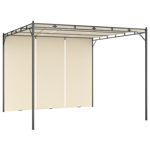 Garden Gazebo with Side Curtain 3x3x2.25m Cream