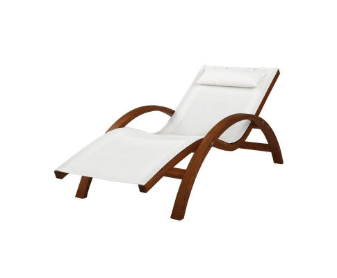 Outdoor Wooden Sun Lounge Setting Day Bed Chair Garden Patio Furniture, Outdoor Furniture