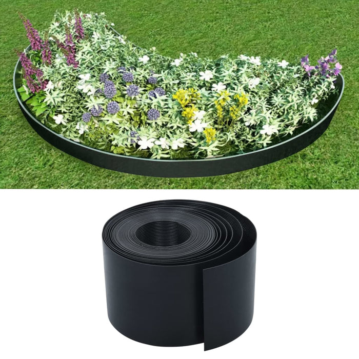 Garden Edging Black 10 m 15 cm PE
