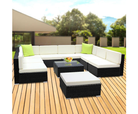 10 Pc outdoor garden furniture set