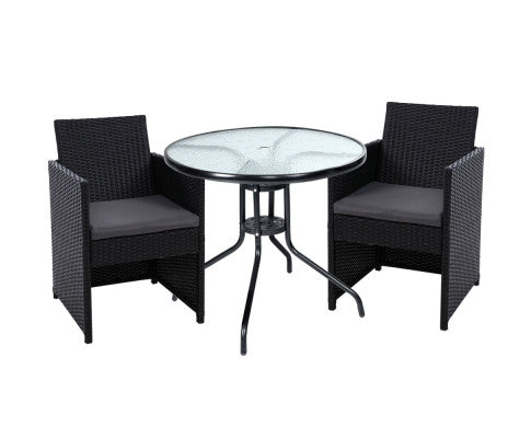 Patio Furniture Dining Chairs Table Patio Setting Bistro Set Wicker Tea Coffee Cafe Bar Set, Garden Furniture Set