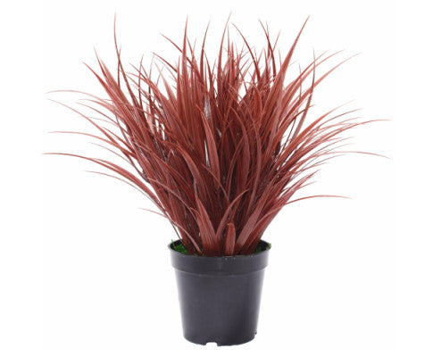 Artificial Ornamental Potted Dense Burgundy Grass 38 cm