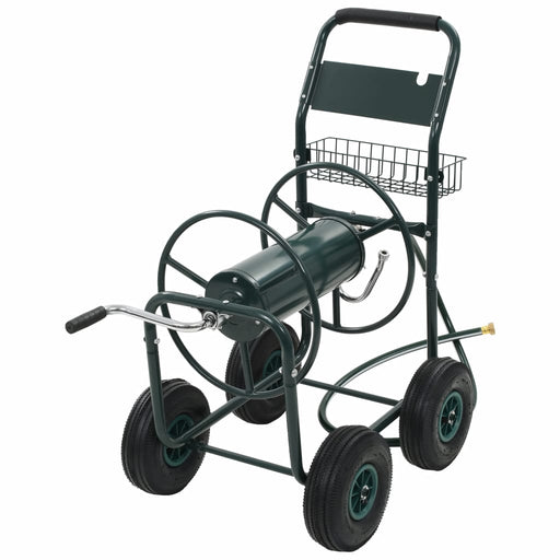 "Garden Hose Trolley with 1/2"" Hose Connector 75 m Steel"