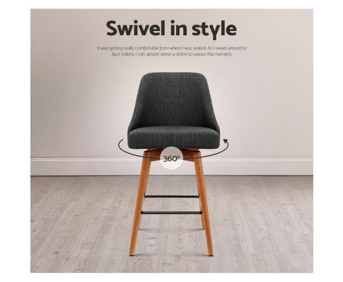 Front View of the Swivel Barstool