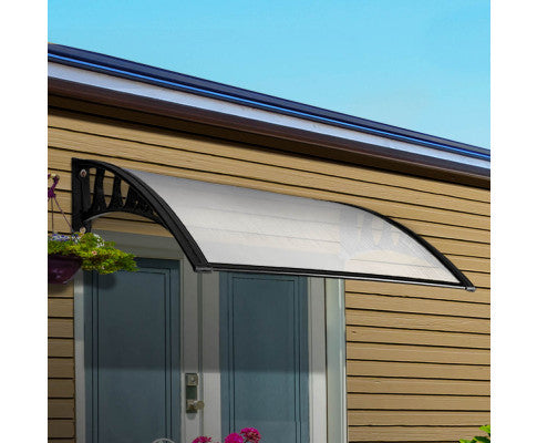 White window door awning