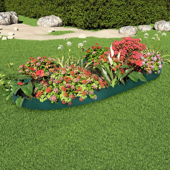 Lawn Edgings 16 pcs Green 10 m PP
