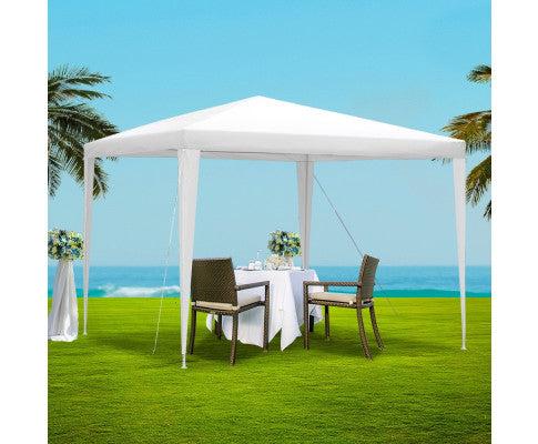 Gazebo 3x3m Tent Marquee Party Wedding Event Canopy Camping White