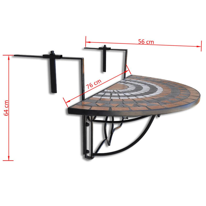 Hanging garden table dimensions