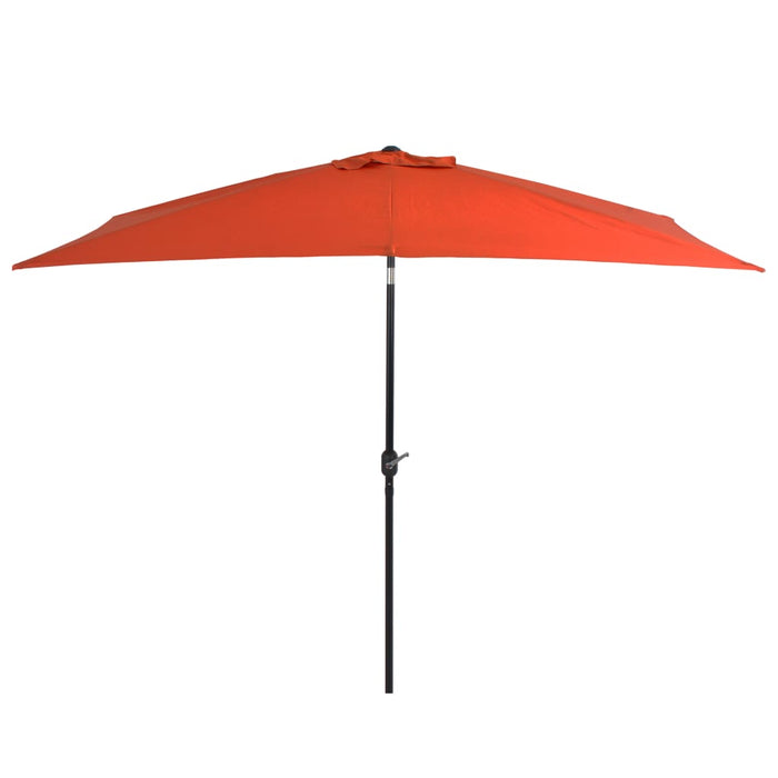 Outdoor Parasol with Metal Pole 300x200 cm Terracotta, Parasol Umbrella