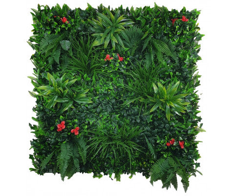 Elegant Red Rose Vertical Garden / Green Wall UV Resistant 100cm x 100cm, Artificial Red Rose Plant