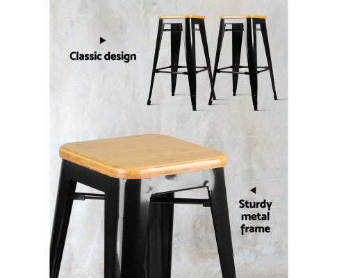 Barstool with Classic Design and Sturdy Metal Frame