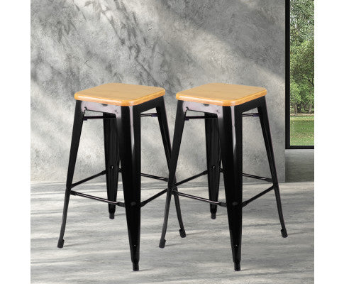 Black Barstool with Anti-rust Powder Coating
