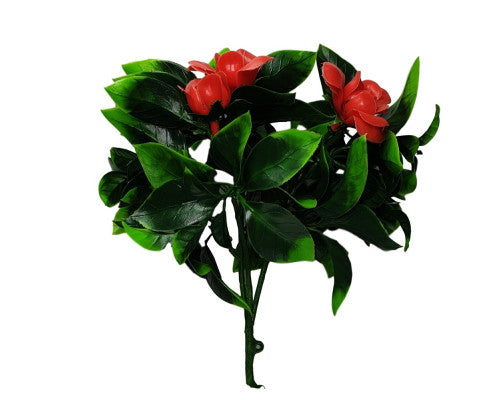 Artificial Green Wall Vertical Garden w/ Red Rose Plant
