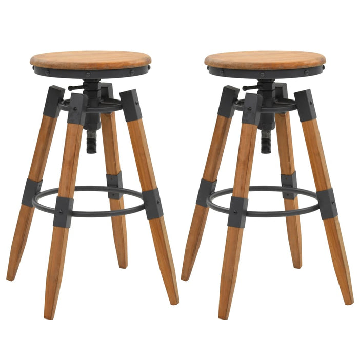 Bar Stools 2 pcs Solid Fir Wood