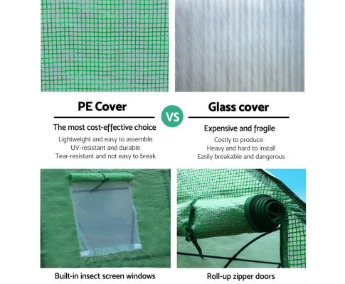 Garden Shed Greenhouse 3 x 2  x 2 m Green House Replacement Cover