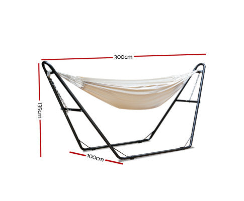 Dimensions of the Hammock Bed W/ Steel Frame Stand