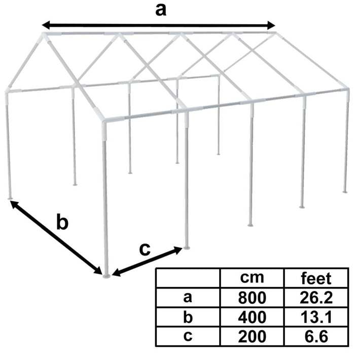 Gazebo replacement frame dimensions