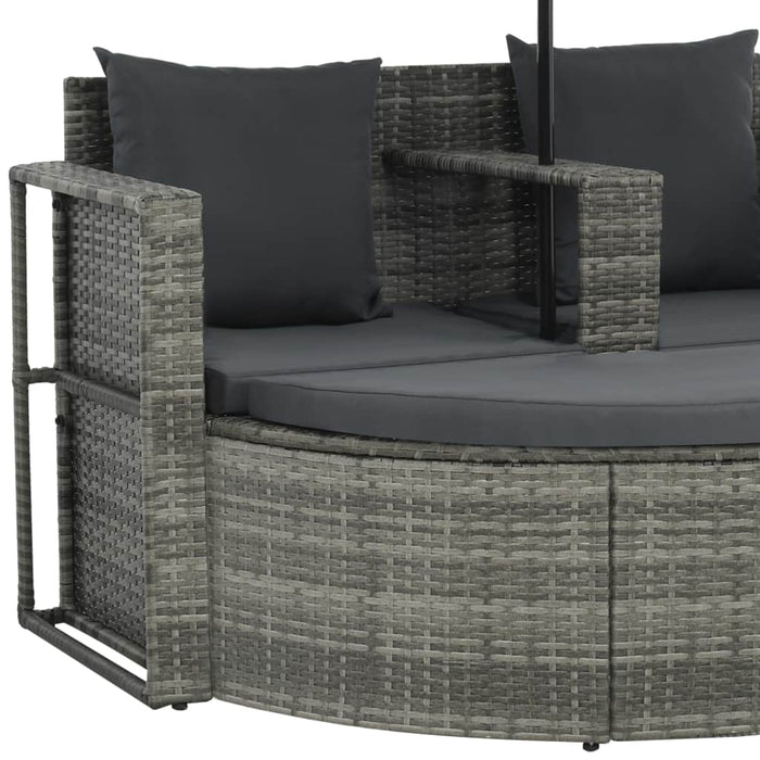 Outdoor garden sofa with armrest and cushion