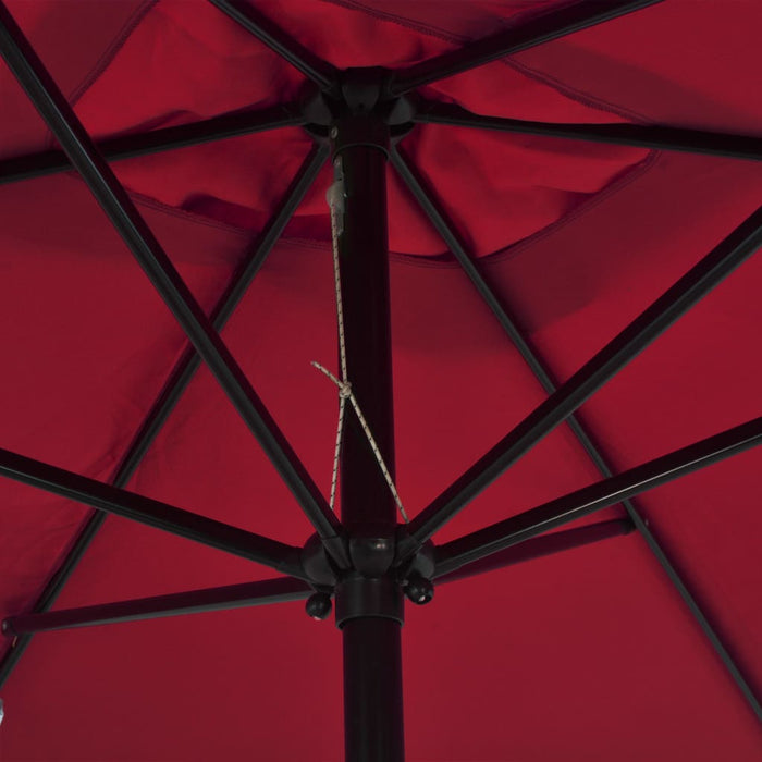 Outdoor Parasol with Metal Pole 300x200 cm Bordeaux Red