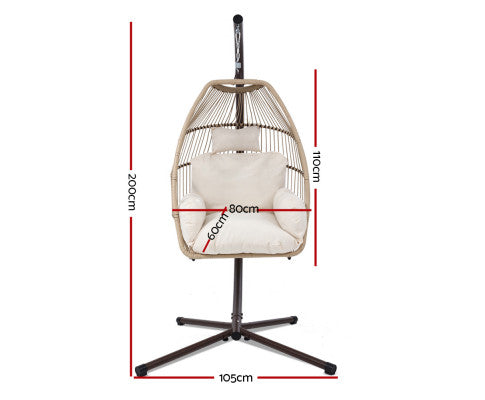 Dimensions of the Egg Hanging Swing Chair