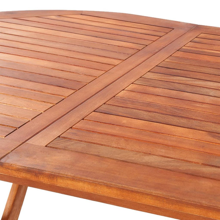 Solid acacia wood outdoor table