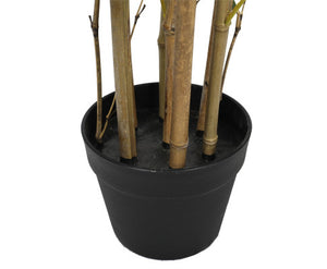 Twiggy Japanese Natural Bamboo Trunk (Real Touch Leaves) 90cm