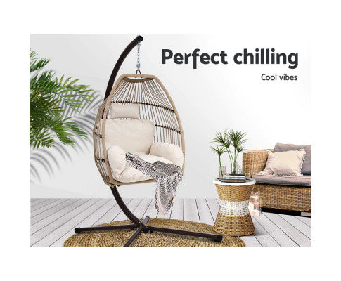Garden Egg Hammock Chair W/ Stand