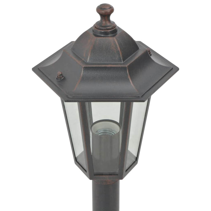 Garden post light bronze