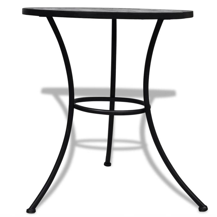 Black and white bistro table stand