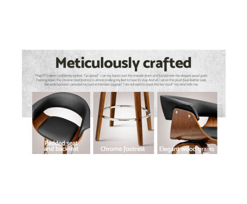 Additional Features of the Black Wooden Bar Stool