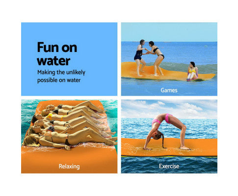 Floating Mat Water Slide Park Stand Up Paddle Pool 550cm
