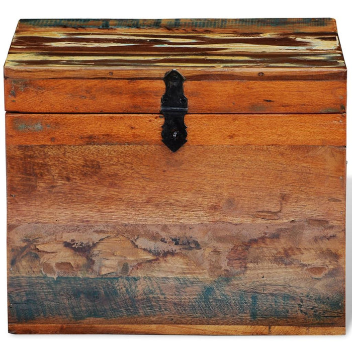 Reclaimed Wood Storage Box Front View