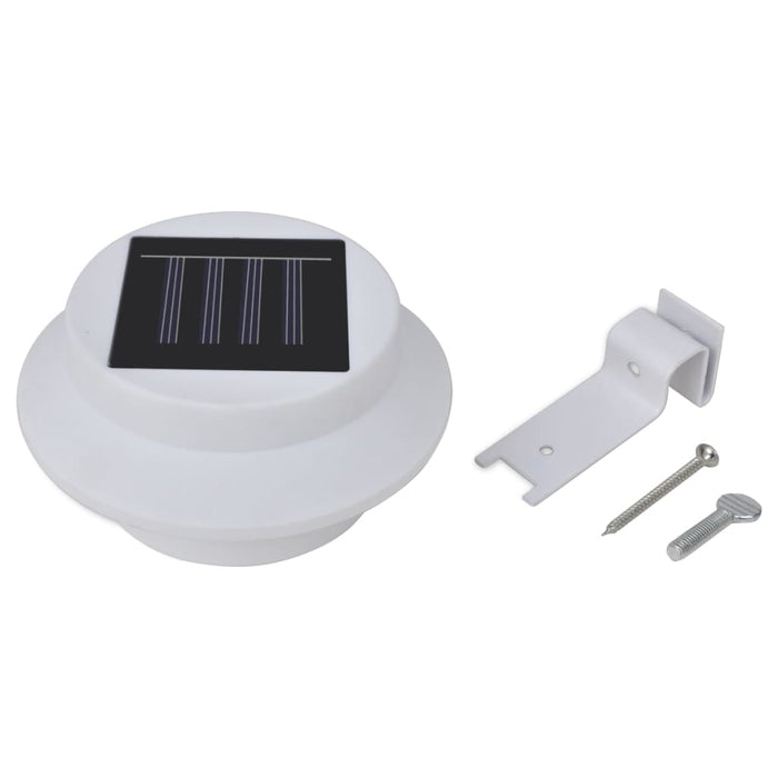 Outdoor Solar Fence Lamps 12 pcs LED White