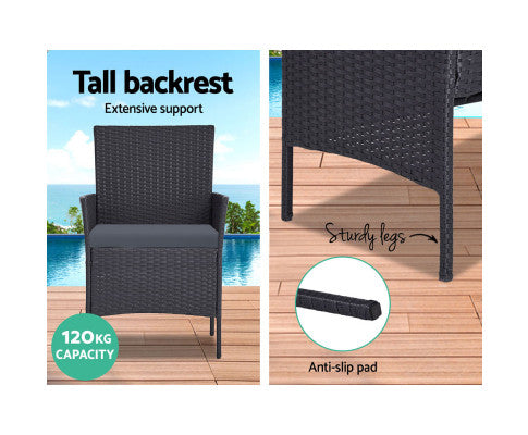 Key Features of the Outdoor Wicker Furniture Set