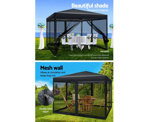 Outdoor gazebo features