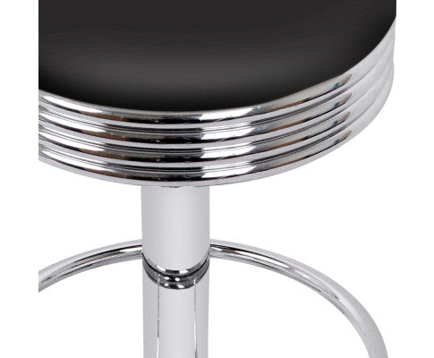 Chrome Finish Steel Base Barstool