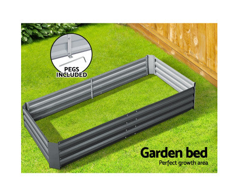 Galvanised Steel Raised Garden Bed Instant Planter with Pegs Included
