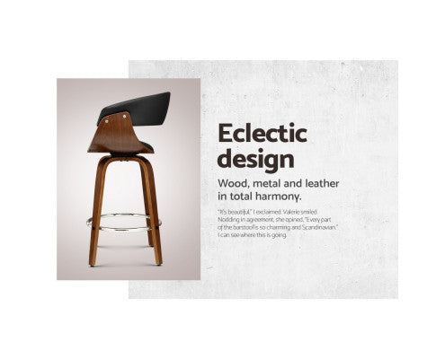 Key Features of the Black Wooden Bar Stool