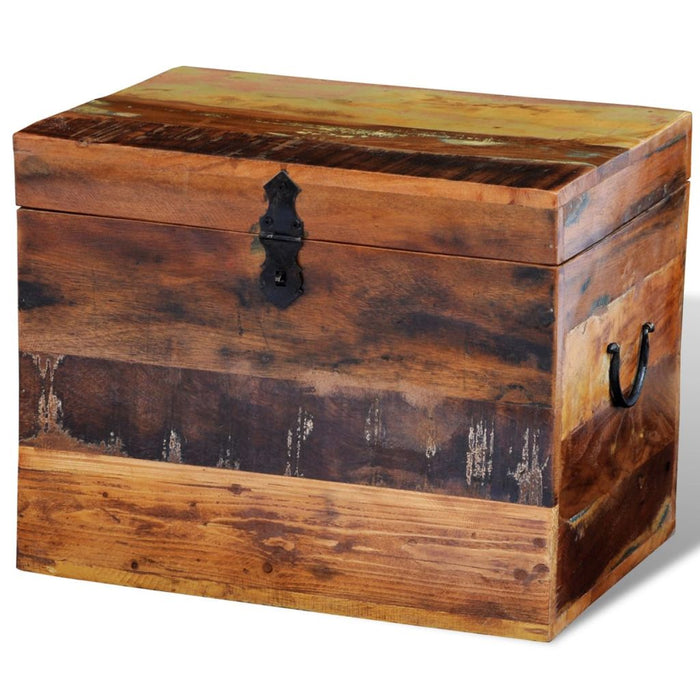 Outdoor Storage Box Reclaimed Wood Full View