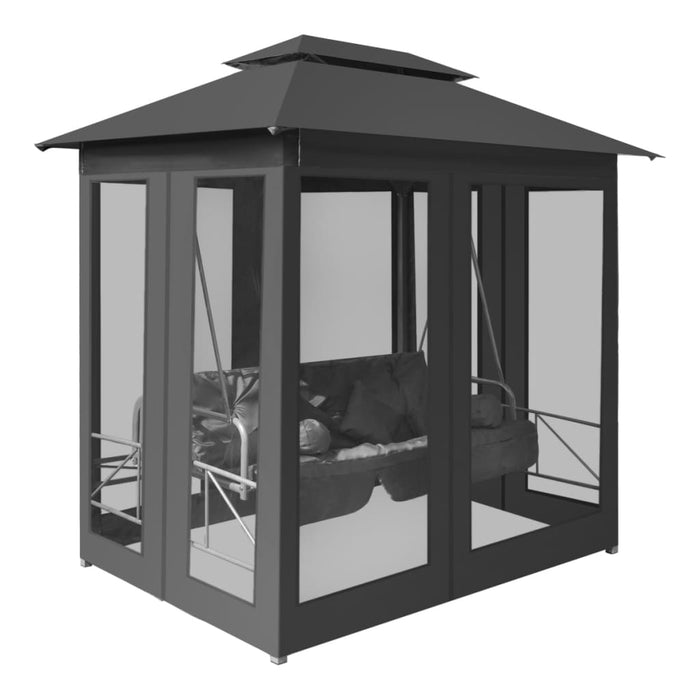 Enclosed swing chair black
